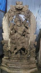 Wooden Radha Krishna 8 Feet Vk