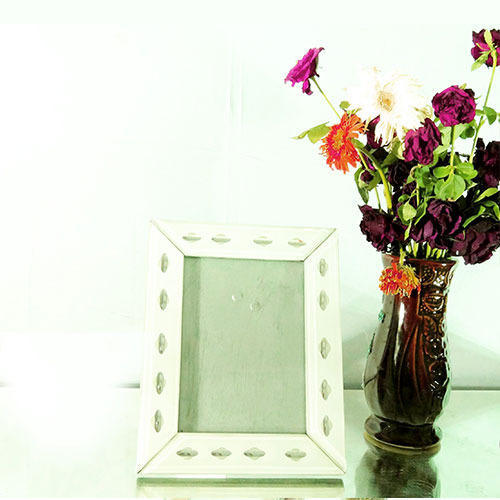 White Glass Photo Frame, Glass Picture Frame, Kaanch Ka Photo Frame ...