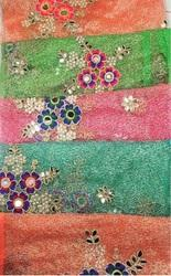 All Over Zari Mirror Embroidery Garments Fabrics