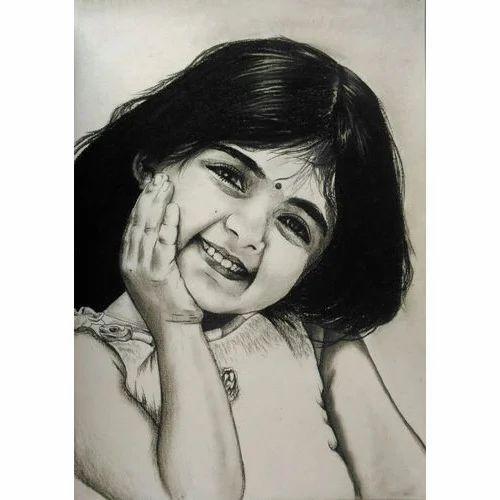 Charcoal Portrait Painting