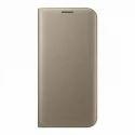 Samsung S7 Edge Flip Wallet Gold