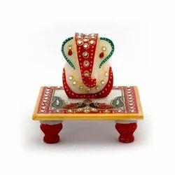 Ganesha Marble Pooja Chowki 388
