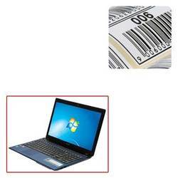 Printed Barcode Labels for Laptops