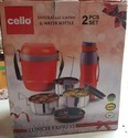 Cello 2 Pcs Gift Set Of Leak Proof Tiffin +Water Bottle.