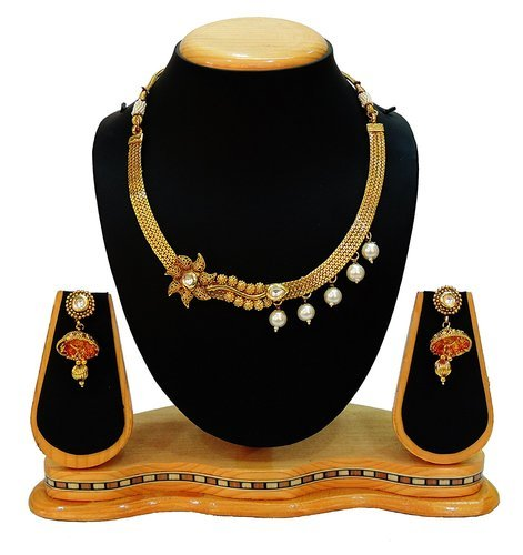 5f745f196 South Indian Necklace Set - Traditional Bridal Kundan Set For Women  Exporter from Mumbai