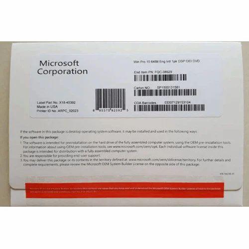 Ms Window 10 Pro 64 Bit