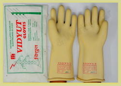 Vidyut Electricity Gloves Rubber Hand Gloves 11 KVA