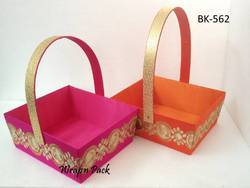 Gift Basket With Zari Border