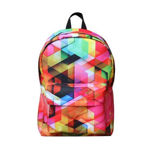 4dbd9df8ee01 Polyster Style Printed School Bag
