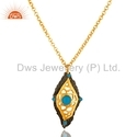 Gold Plated Sterling Silver Chain Pendant