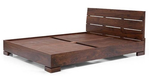 Flat Form Low Bed Teak Wood Cot लकड क कट पलग