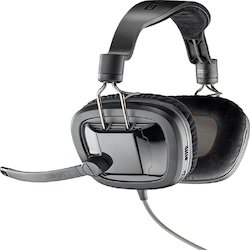 Black Wired Plantronics Gamecom 388 Headsets