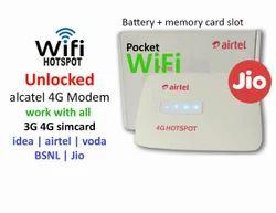 Unlocked Airtel Alcatel Mw40cj Wifi 2g 3g 4g Airtel Jio Idea