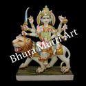 Multicolor Marble Durga Statue
