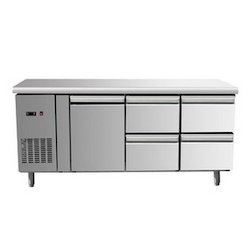 Stainless Steel SS Horizontal Refrigerator, Top Freezer
