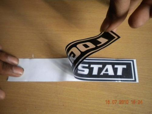 Vinyl cut letter stickers