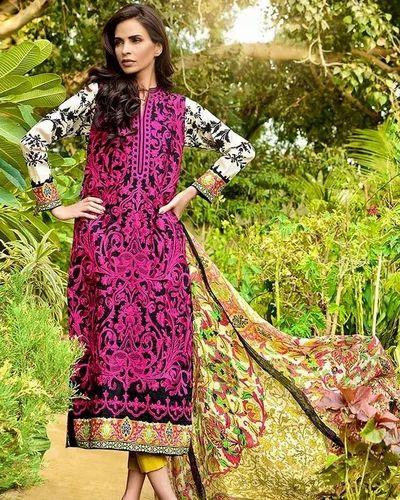 21975e7c33 Cotton Semi-Stitched Gul Ahmad Vol 2 Pakistani Suits, Rs 4700 /piece ...