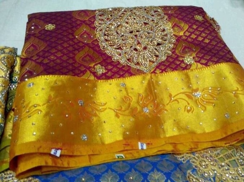 12755917e5 Wedding Wear Kanchipuram Pattu Saree, Without Blouse Piece | ID ...