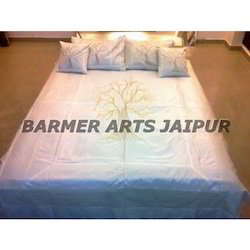 Silk Embroidery Tree Of Life Bed Cover