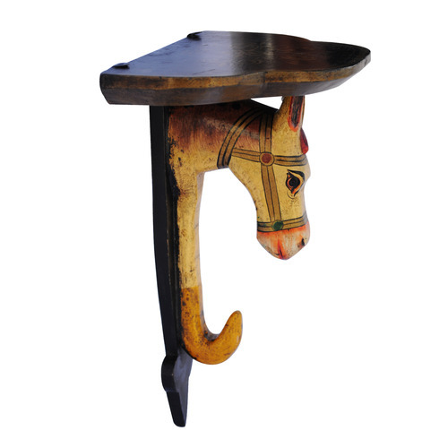 Horse Wooden Book Holder Wall Decor, Size: 12 inch