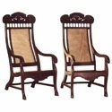 Brown Rosewood Arm Pair Chairs, Model: Cc-fr-35