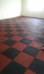 Tiles Designed Rubber Flooring