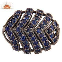 Blue Sapphire Gemstone Beads Finding Jewelry