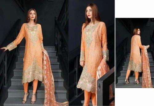afeb1aed19 Emaan Adeel Chiffon Embroidered Eid Suits - Emaan Adeel Chiffon Suit ...