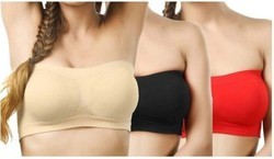 Ladies Beltless Seamless Tube Bra