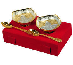 Silver Gold Plated Brass Bowls