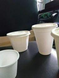 Paper Plain Bio Degradable White Cups, Capacity: 30ml