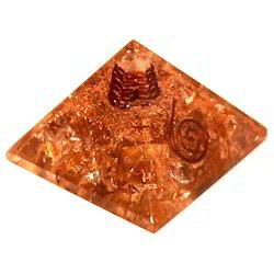 Orgone Pyramid of Cetrine with Base 6cm
