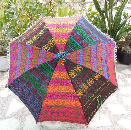 e75cdd0e038b7 Indian Cotton Embroidered Design Traditional Ladies Umbrella