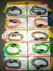 Multi Colour Threaded Best Quality AUX Cable