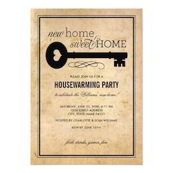 Housewarming invitation card at rs 20 piece invitation card id get in touch with us m4hsunfo