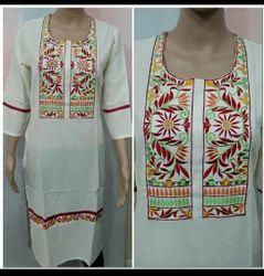 Rayon Embroidery Kurtis
