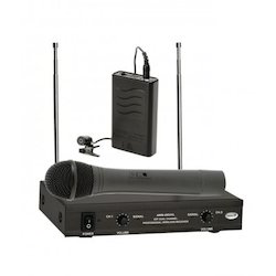 Ahuja Black Wireless Microphone System