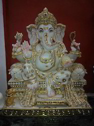 Marble Sitting Ganpati