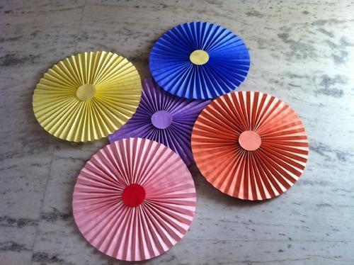 Paper Fans For Decoration And Events And Weddings