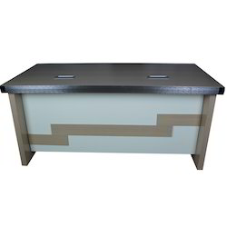 Rectangular Silver Arrow, Wooden White and Brown Office Executive Table, Size: 16 X 50 X 45 Inches