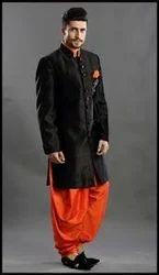 Black Silk Mens Ethnic Wear, Chinese