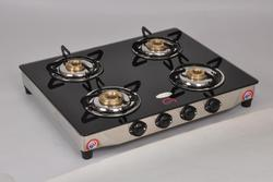 Four Burner Glass Top STOVE TRIM GLASS SS