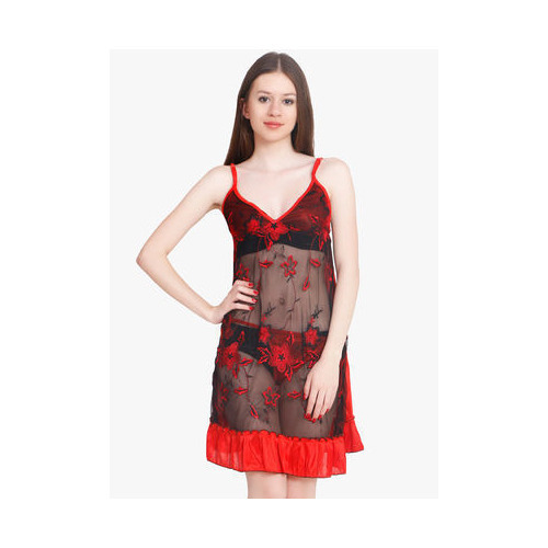 3858346e4b Women Nightwear - Women Red Satin Baby Doll Dresses Nighty ...