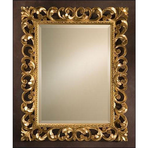 wood carved mirror photo frame - Wooden Frames