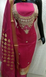 Banarasi Silk Gota Patti Suit