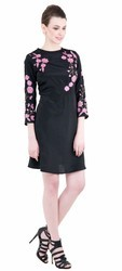 Redmoon Women Short Embroidery Dress, Size: Medium