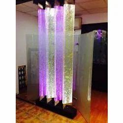 Polished Rod Pillars Designer Glass