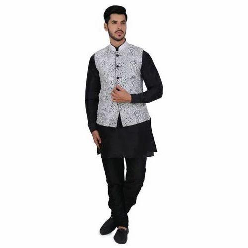 Kurta Pajama Stylish Kurta Pajama With Jacket Manufacturer From Delhi