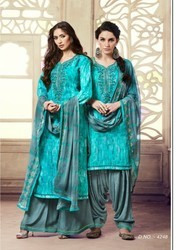 Kessi Fabrics Colours Patiyala Vol 9 Satin Cotton Printed Suits Materials