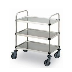 Three Self Tray Trolleys